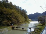台風後の大斎原への橋